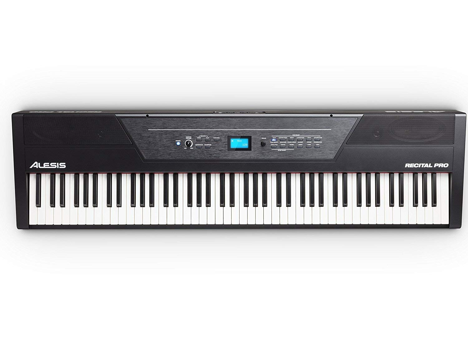 Alesis Recital Pro | Digital Piano / Keyboard with 88 Hammer Action Keys, 12 Premium Voices, 20W Built-in Speakers, Headphone Output and Educational Features by Alesis (Image #9)