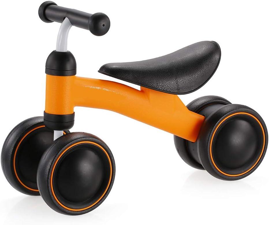 SSCYHT Baby Balance Bikes Baby Toddler Juguetes de Bicicleta de Cuatro Ruedas para niños de 1 año Niño Niña 10-36 Meses Bicicleta para niños Bebé sin Pedal