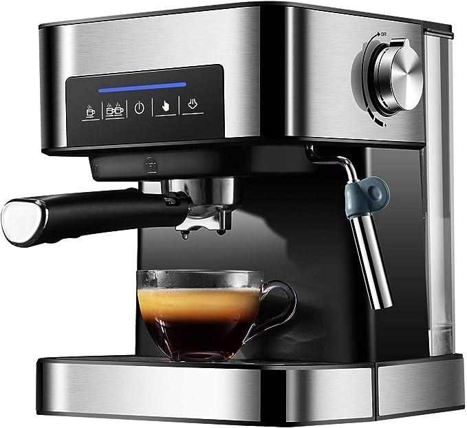 Totalmente automática máquina de café espresso Commericial Cafetera Latte Cappuccino y 20 bares de presión de vapor caliente espuma de leche 220V: Amazon.es: Hogar