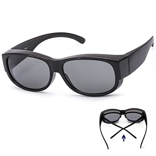 d2df27a46c7a Amazon.com  LVIOE Wrap Around Polarized Sunglasses for Driving