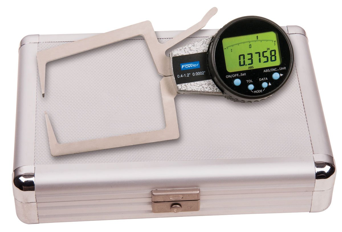 Fowler 54-554-723 External Electronic Caliper Gage, 0.400-1.2 Measuring Range, 0.0005'' Resolution, 0.0008'' Accuracy by Fowler