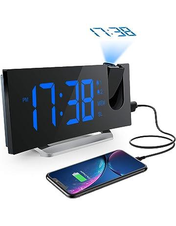Mpow Radio Despertador Digital Proyector, FM Radio Reloj Despertador con Proyector Digital de Alarma Dual