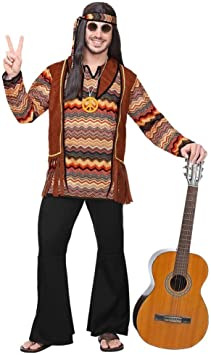 WIDMANN Disfraz de Señor hippie: Amazon.es: Juguetes y juegos