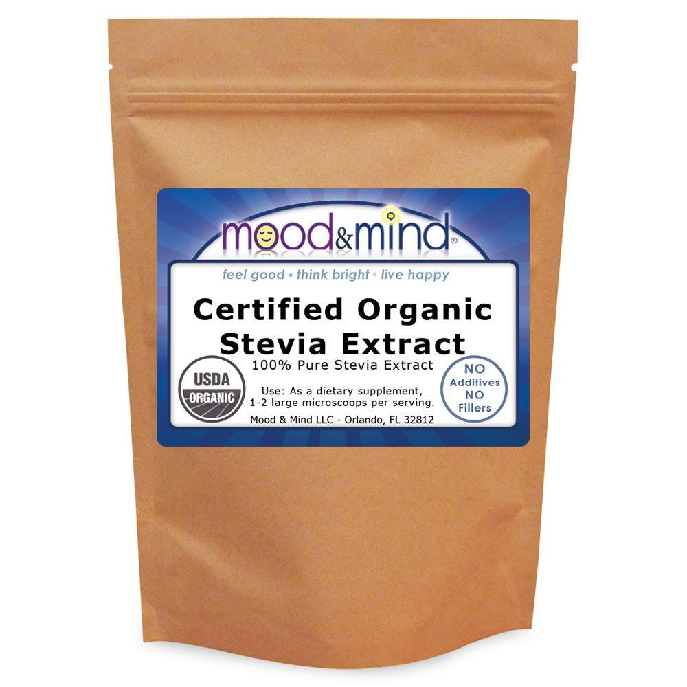 Organic Stevia Extract Powder NO FILLERS! 4 oz (112g)