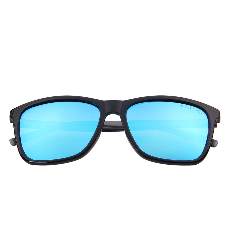 MERRY'S Unisex Polarized Aluminum Sunglasses Vintage Sun Glasses For Men/Women S8286 (Blue, 56) by MERRY'S (Image #5)