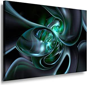 Abstract Size 100x70x2cm Art Print On Wooden Framed Canvas, Image 30