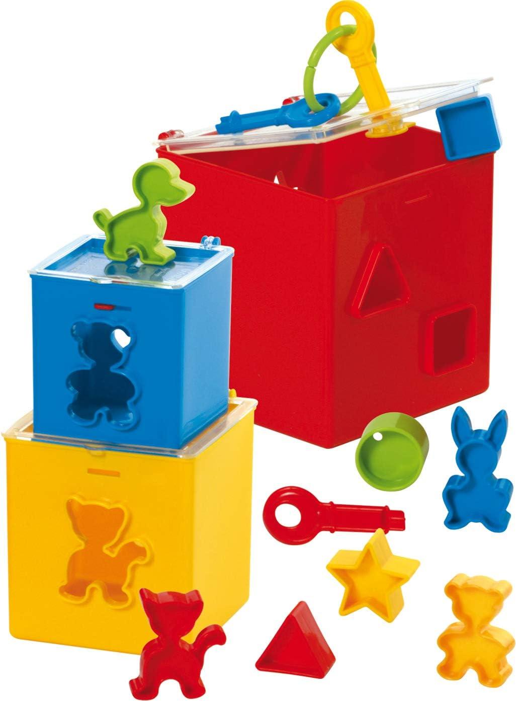 Gowi 453-21 - Set de Cubos apilables con Formas encajables (12 ...
