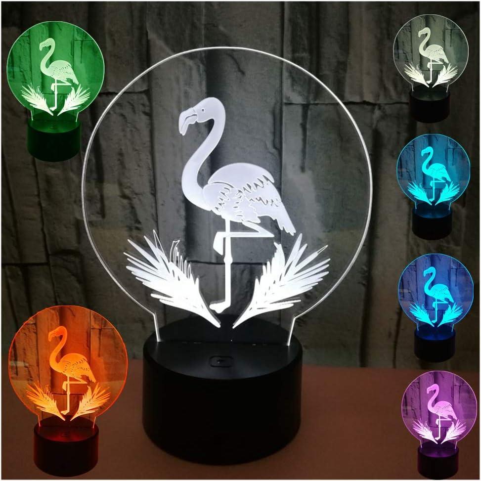 3D Lámpara LED Decoración Lámpara de Mesa Morbuy Flamenco ...