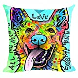 Best Pillow Cases Of Dogs Arts - Multicolor Art Dog Cushion Cover German Shepherd Series Review
