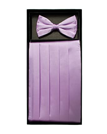 1b57caef70fb7 Pastel Purple Solid Cummerbund and Bow Tie Set: Amazon.co.uk: Clothing