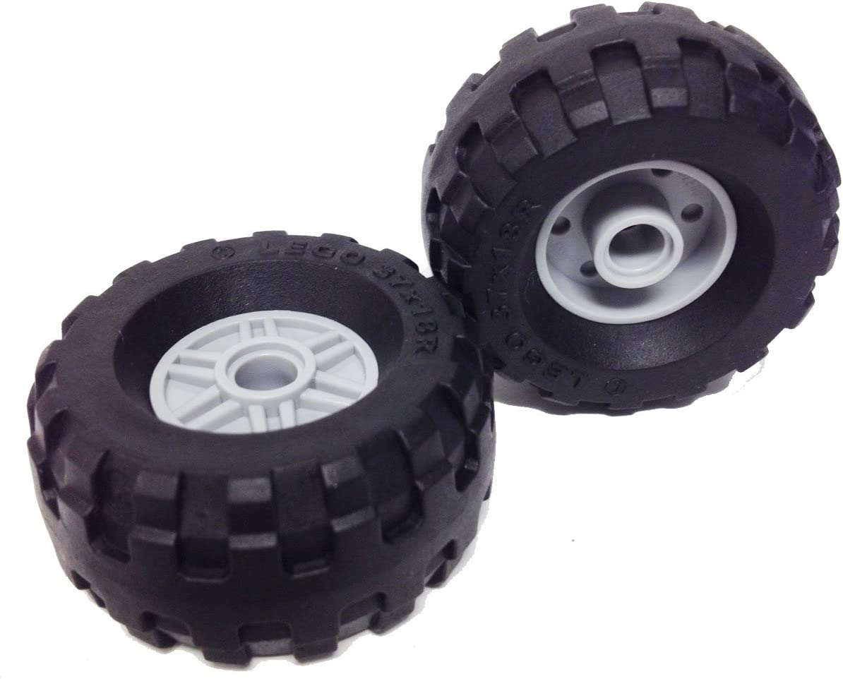 16 Pieces Total New Lego 8 Wheel Hubs And 8 Tires Makes 8 Complete Wheels