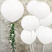 Large Balloons Latex - 36 Inch Balloons Giant Helium Balloons Big Balloon for Party and Event Decorations White 5PCS