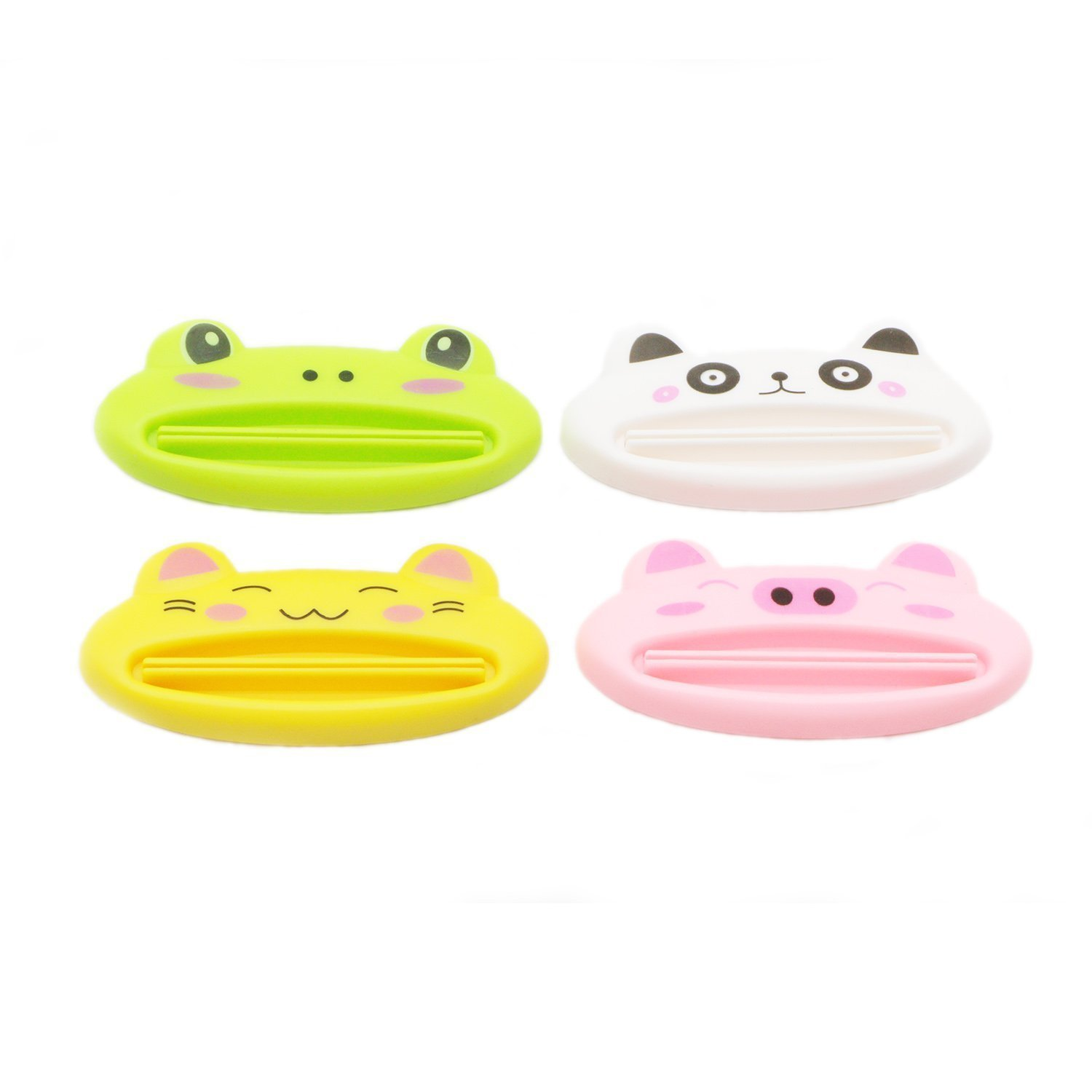 COJOY Home Design Shaped Toothpaste Tube Squeezers Clip 4 pcs