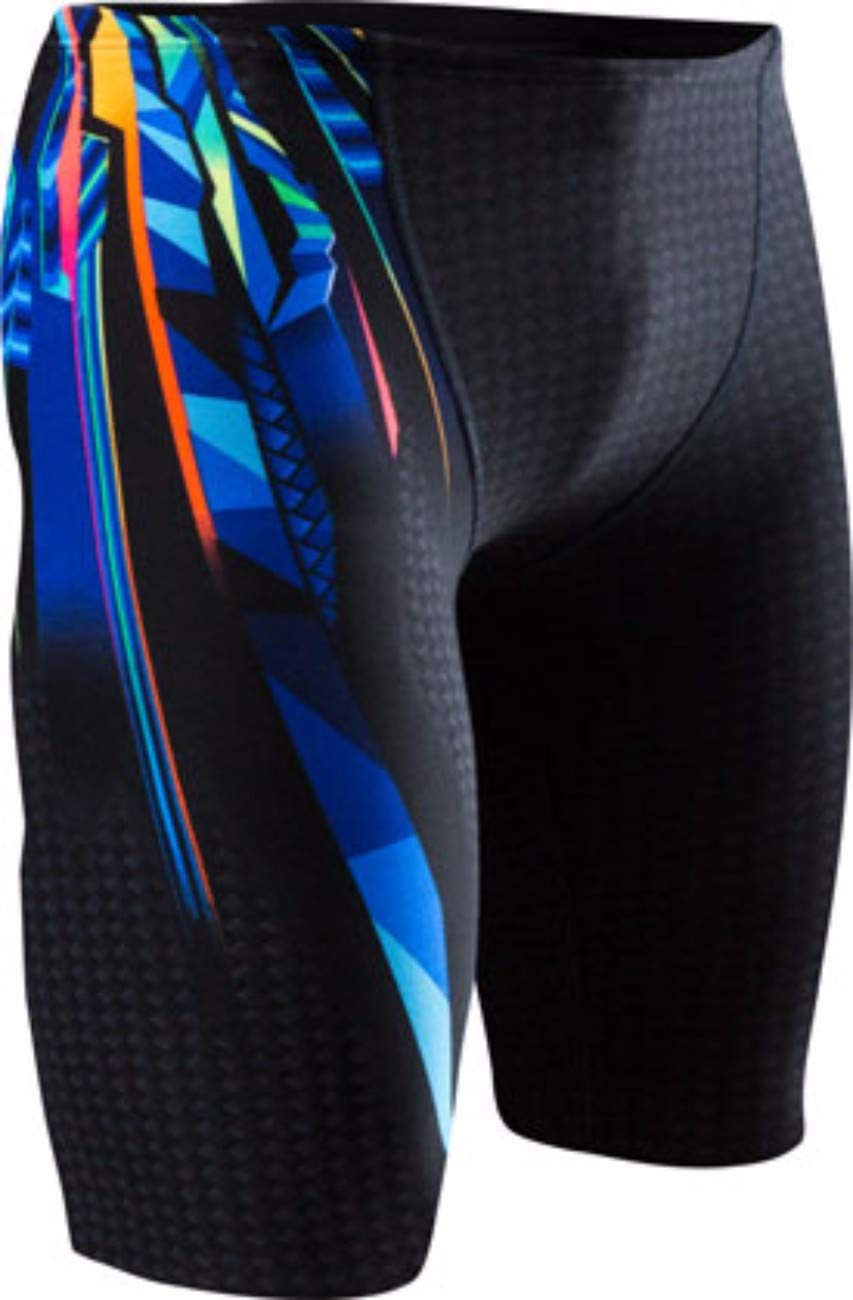 TYR Men's Bravos All Over Jammer Swimsuit, Multi Color, 38 by TYR