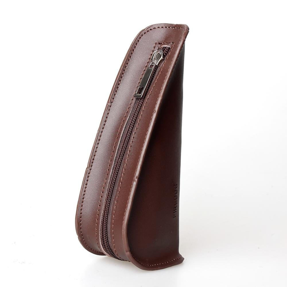Tobacco Pipe Pouch 7'' 1PC Split Leather Travel Portable Bag Single Smoking Pipe pouch Holder CL09 (brown)