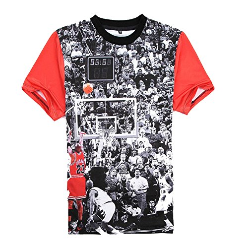 (Catamaran Unisex Mens Jordan 23 Short Hip Hop 3d Teen T Shirts Crop Tops)