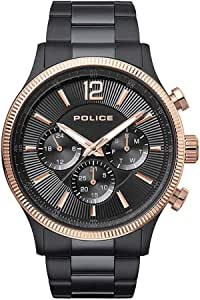 Police Casual Watch for Men, P 15302JSBR 02M