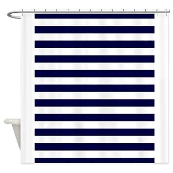 CafePress Nautical Navy Stripes Shower Curtain Decorative Fabric 69quot
