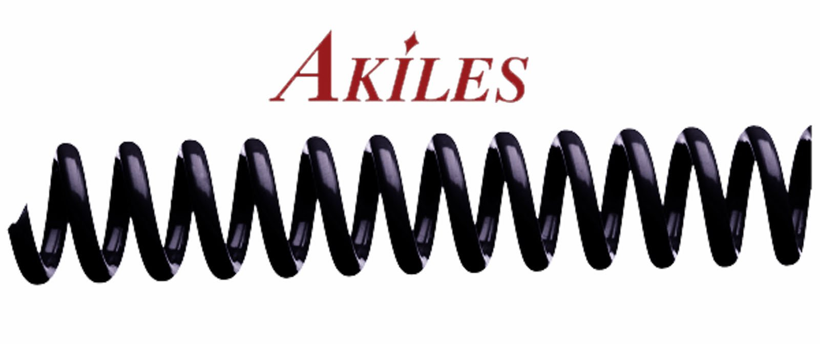 Akiles Spiral Coil Binding Spines 9mm (11/32 x 12-inch) 4:1 (pk of 100) Black