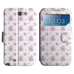 Be-Star Diseño Impreso Colorido Slim Casa Carcasa Funda Case PU Cuero - Stand Function para Samsung Galaxy Note 2 II / N7100 ( Violet Flower )