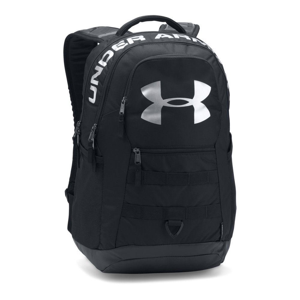 Under Armour Big Logo 5.0 Backpack, Black (001)/Silver, One Size by Under Armour