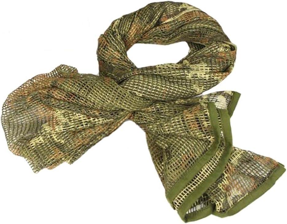 KOMBAT TACTICAL Mesh Nylon Scrim écharpe Camouflage Nuit Camouflage BTP Noir