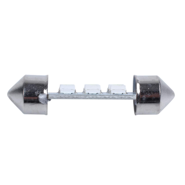 Beauneo 2 x 36mm Blanco 6 SMD LED Bombilla Lampara Luz de cupula de feston