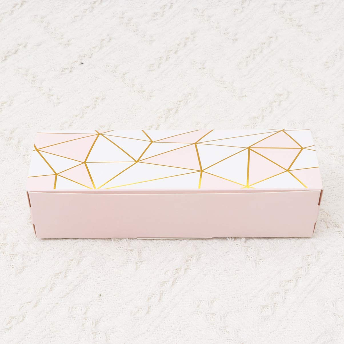 Candy Favors and More to Take Home Amosfun 20 pcs Cookie Packaging Box Treats Gift Boxes Rectangular Party Favor Boxes for Packing Wedding Cake Slices Cookies Blue with Golden Edge