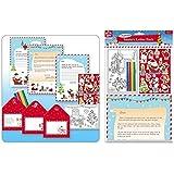 Anker–Confezione di lettere da Babbo Natale con lettere, adesivi e colorazione set