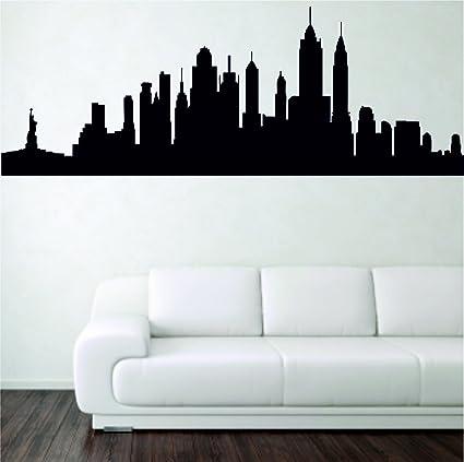 Full Colour New York Skyline Cityscape Wall Art Sticker Decal Mural Transfer