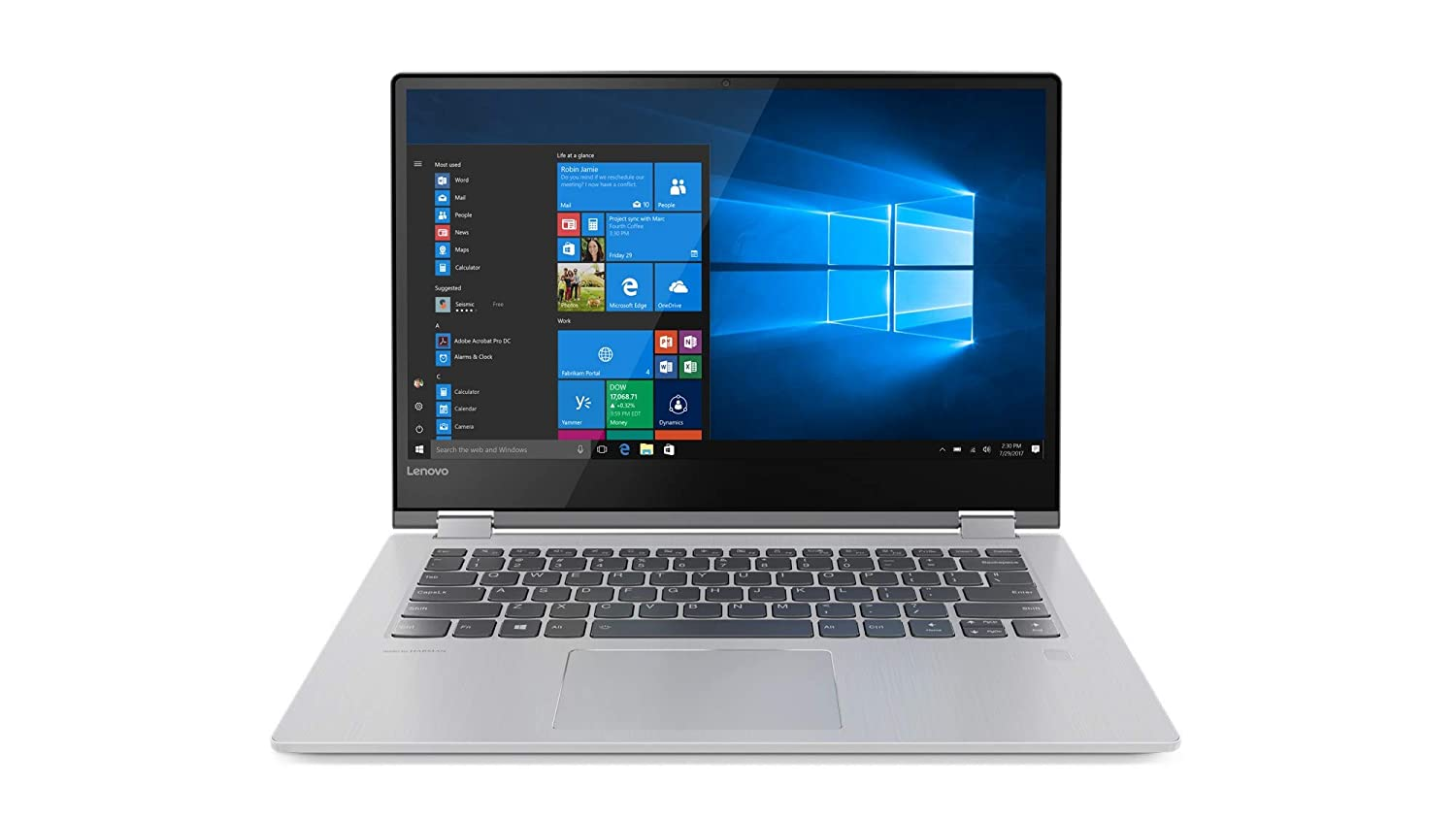 "Lenovo Yoga 530-14ARR - Portátil táctil Convertible de 14"" HD (Intel Core i3-7020U, 4GB de RAM, 128GB de SSD, Windows 10) Gris - Teclado QWERTY Español"