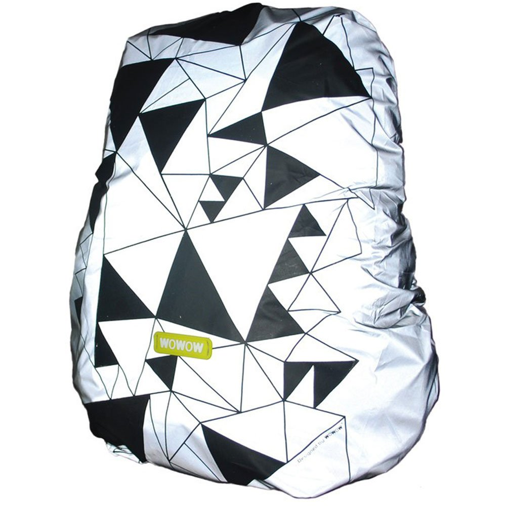 Wowow Bag Cover Urban Réfléchissants et Hydrofuge Sac à dos de couverture - Argent/Noir, One Size