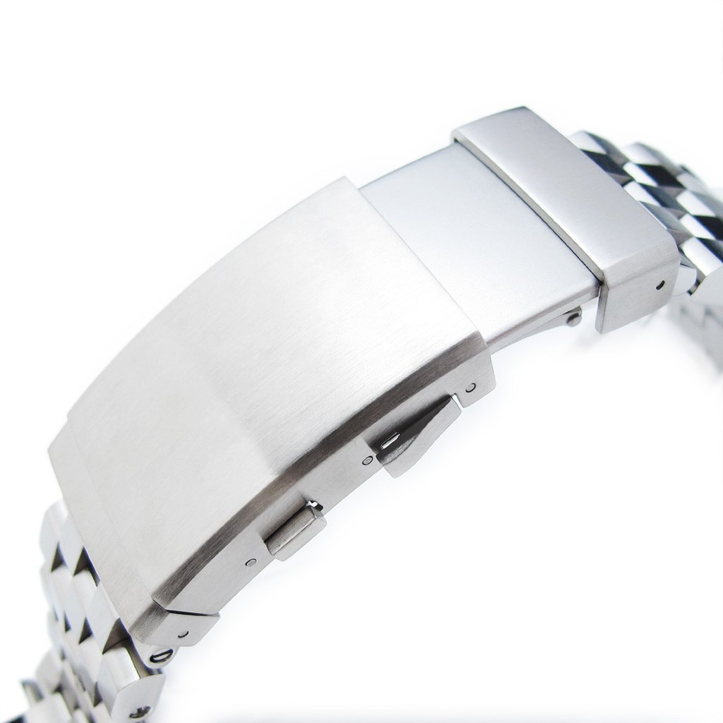22mm Super Engineer II Straight End Watch Bracelet, Universal 1.8mm SpringBar, Ratchet Buckle by Metal Band by MiLTAT (Image #3)