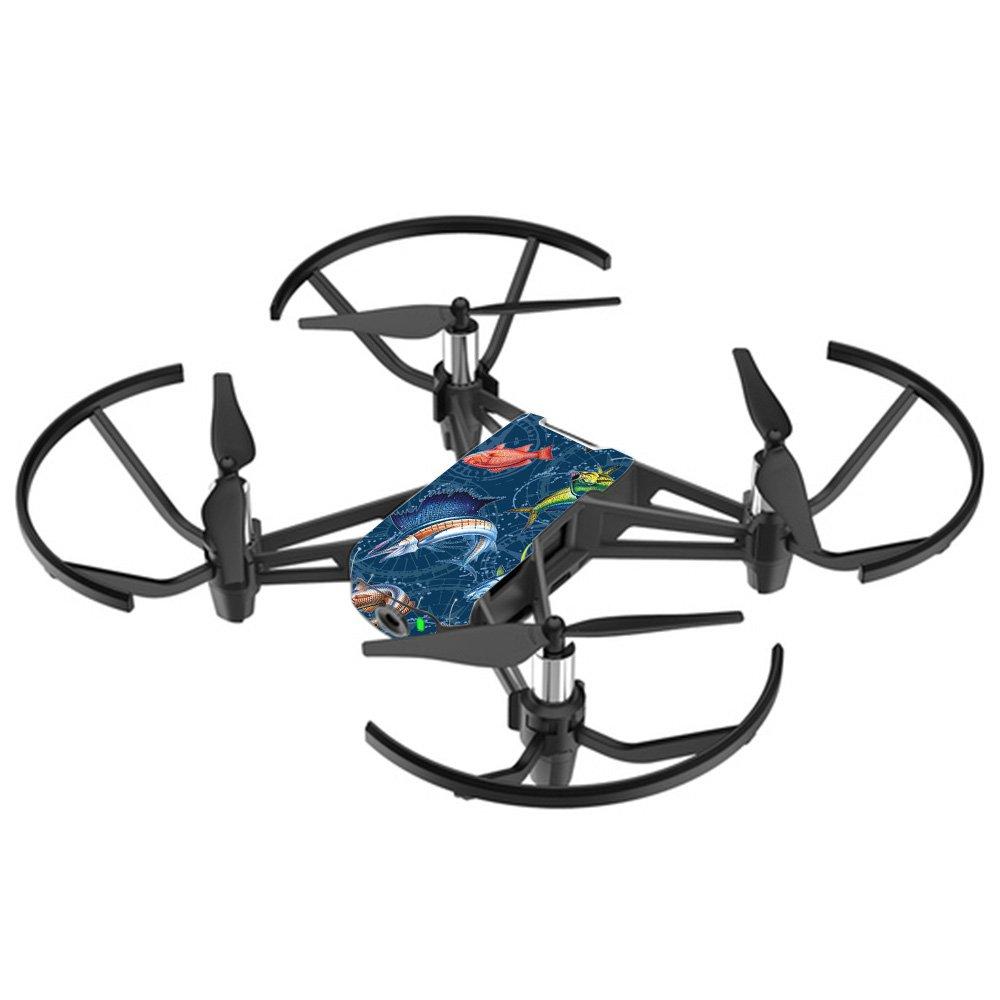 MightySkins スキンデカールラップ DJIステッカー保護カバー 100種類のカラーオプションに対応, DJI Max Coverage, DJMAVAI-Coral Damask B07DGP3PNV DJI Tello Drone Saltwater Compass Saltwater Compass DJI Tello Drone