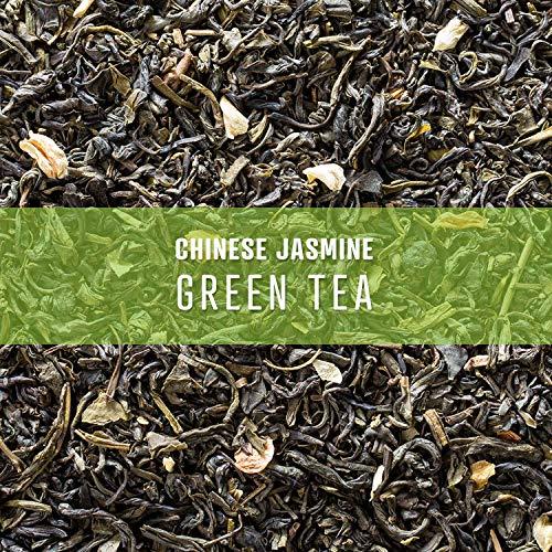 Elevate Tea CHINESE JASMINE GREEN TEA, Loose Leaf Tea Blend,  75 servings, 3-Pack of 3 Ounce Pouches, Caffeine Level: Medium