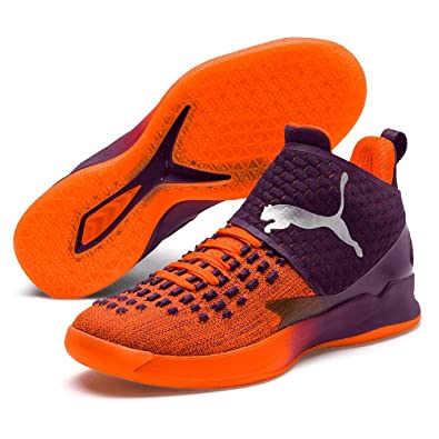 Puma Rise XT Fuse 1 Zapatillas de Balonmano Naranja, Shocking Orange-Shadow Purple White