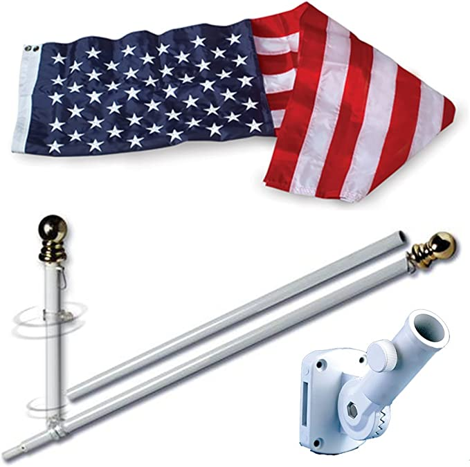 Amazon Com Allied Flag American Home Nylon 3 By 5 Feet Us Flag Set With 5 Feet Spinning Flag Pole Outdoor Flags Garden Outdoor