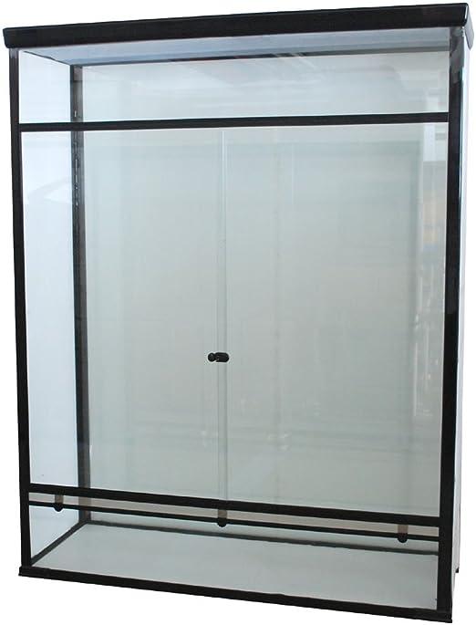 Cristal de terrario 120 x 45 x 150 cm con puertas correderas con bloqueo: Amazon.es: Productos para mascotas