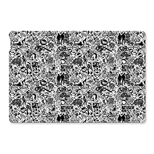 iPad Air 2 Case, Shock-Absorption/Impact Resistant PU Leather Personalized Protective Folio Stand Smart Case Cover[Automatic Wake/Sleep Function] [Perfect Fit] for Apple iPad Air 2(iPad 6)- Comics Black And White by ruishername