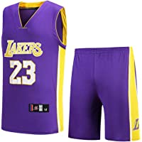 OUJD NBA Ropa, Bulls Jordan23/Lakers James23/Warriors Curry30 Baloncesto Camisetas Traje Niños Chicos Bordado…