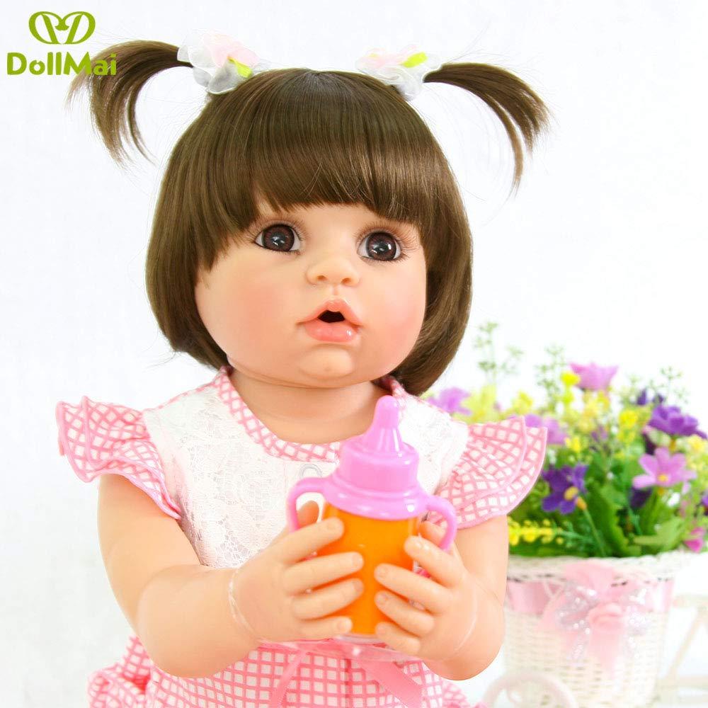 Amazon.com: DollMai Muñeca bebé renacida 22 pulgadas 22.0 in ...