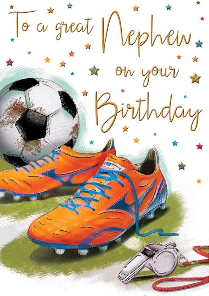 Tarjeta de cumpleaños para sobrino – 9 x 6 pulgadas – Regal Publishing