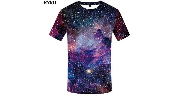 KYKU Marca Galaxy T Camiseta Camisetas del Espacio Divertido