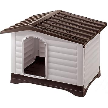 Ferplast Caseta para Perros Dogvilla 110 Talla Grande Pequeño Hecha De Plástico con Techo Desmontable: Amazon.es: Productos para mascotas