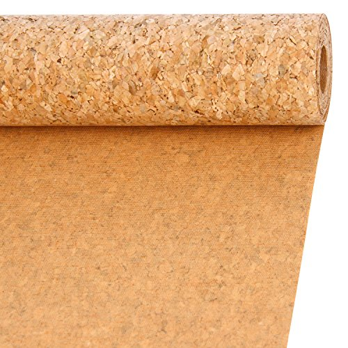 LaRibbons 11.8 Inch Wide Natural Color Cork Ribbon Fabric, 10 Feet Each Roll ()