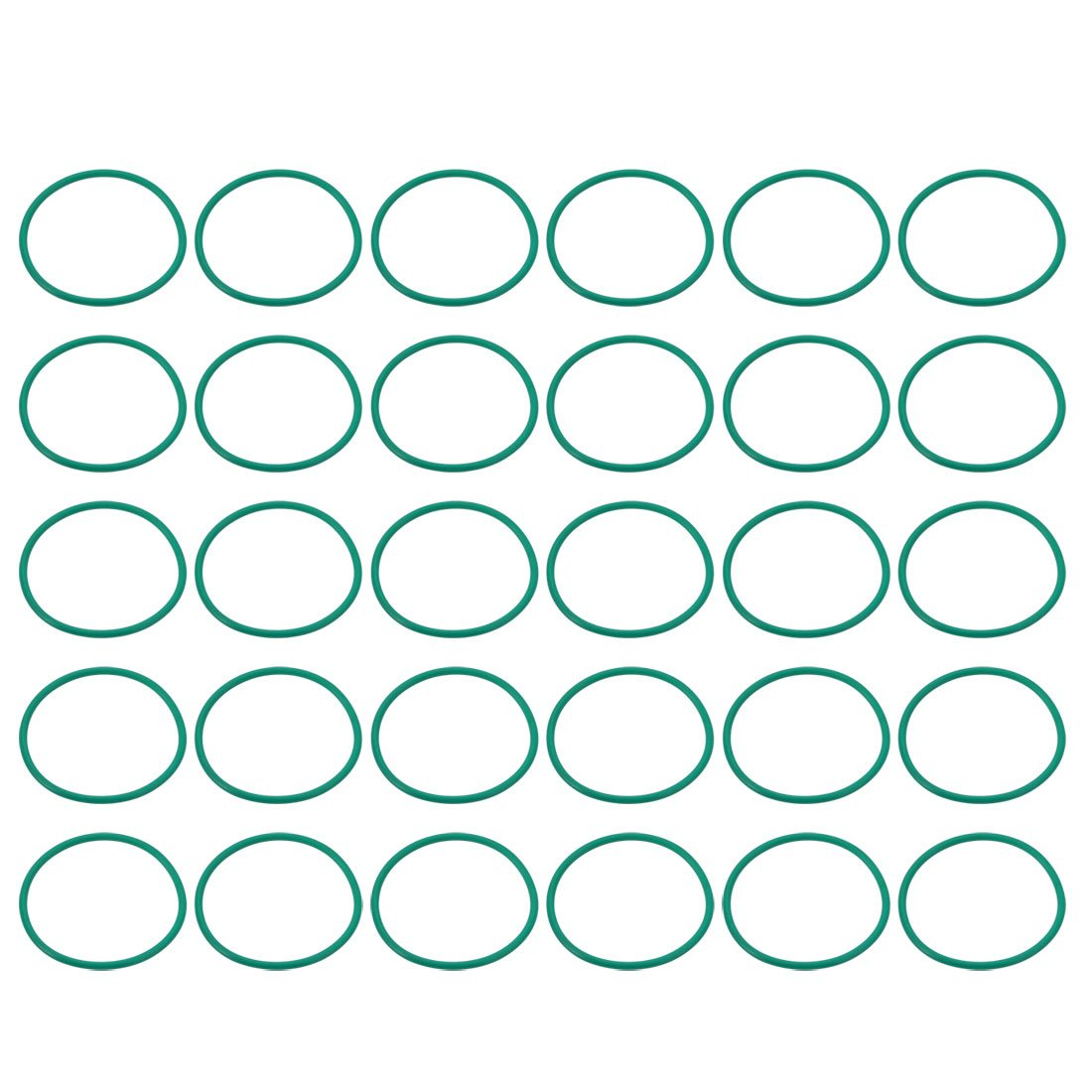 uxcell 30pcs Green 29mm Outer Dia 1.5mm Thickness Sealing Ring O-Shape Rubber Grommet