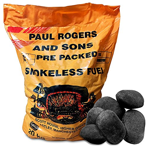20kg of Smokeless Ovals Coal - Perfect for Open Fires, Multi-fuel stoves & Cookers - Comes With TCH Anti-Bacterial Pen!