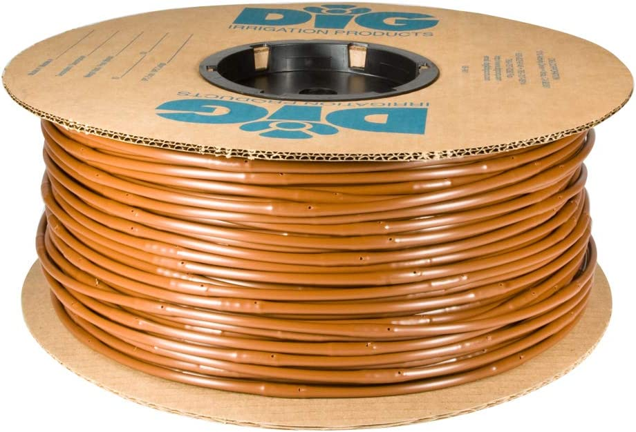 "DIG Corporation Drip Line 500', 6"" Emitter Spacing, 1/4"" .52 GPH, Color : Brown - Drip Irrigation Tubing, Soaker Hose (.170 ID x 240 OD)"