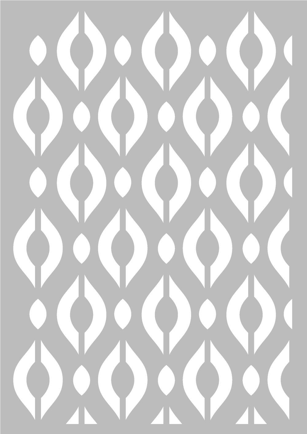 Stencil geometrica rombi 29, 7x 42cm–Stencil geometrica Artemio