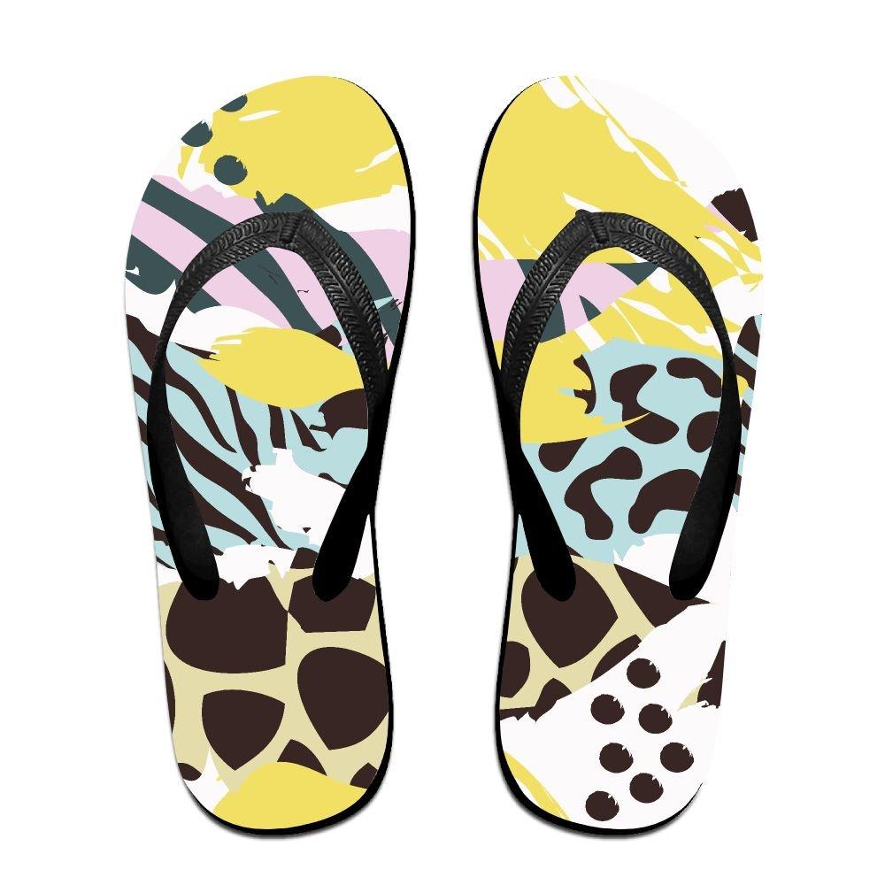 Unisex V Flip Flops Animal Exotic Pattern Personalized Summer Slipper